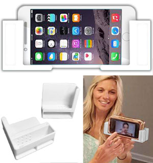Stick Anywhere Cell Phone Mount with Strong Gel Grip