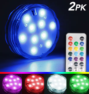Waterproof Color-Changing Light with Rem… - #9435