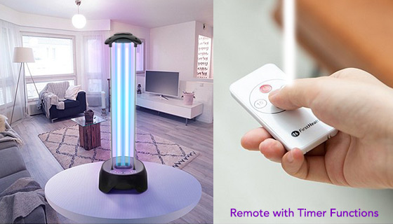 Full Room UV-C Light Sanitizer with Safety Sensor