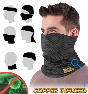 Copper Care Face Protecting Neck Gaiter with Cooling Technology