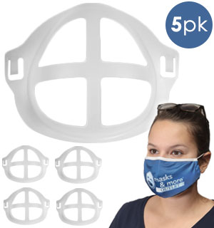 5pk of Reusable Face Brackets - For Comfortable Breathing