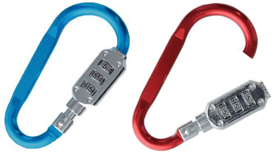 LatchLink Combination Lock Carabiner 2pk