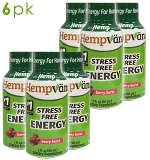 Stress Free Energy w/ Hemp Seed Extract - 6-Pack of Berry Burst