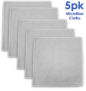 5-Pack of Microfiber Cleaning Cloth/Towels