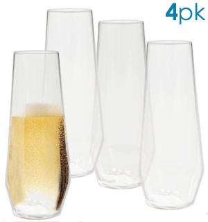 Stemless Champagne Flute Set (4 in a set… - #9533