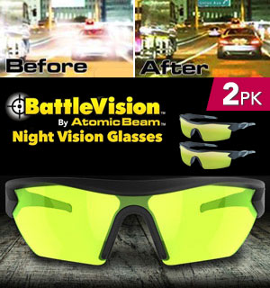 Battle Vision Night Vision Glasses - 2 Pairs