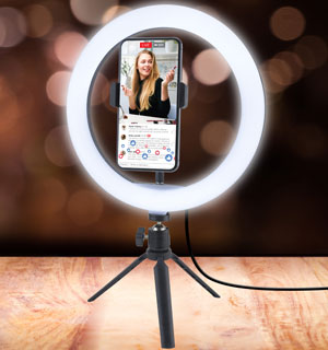 10 Inch LED Ring Light w/ Tripod and Phone Holder