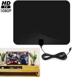 Ultra-Thin HDTV Antenna with 100 Mile Radius - #9557