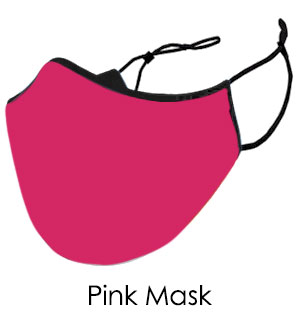 Pink Cotton Face Mask - Reusable W/ Filter Pocket