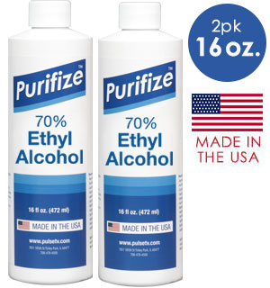 Purifize Rubbing Alcohol 16oz. 2 Pk - #9604A