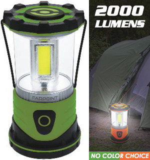 2000 Lumens COB Lantern - 4 Light Modes - #9609