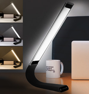Touch LED Desk Lamp - Modern, Flexible and Portable - #9628