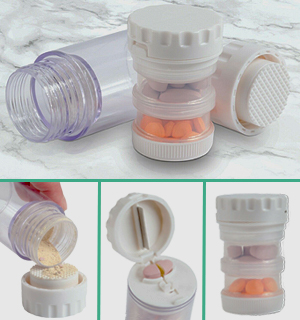 4 in 1 Med-Pod - Medication Organizer With Built-In Features