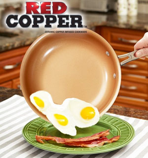 "10"" Red Copper Non-Stick Fry Pan - #9695"