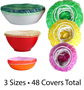 Set of 48 Fitted Bowl Covers