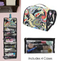 Fold Up Cosmetic & Toiletries Travel Bag with Hanging Hook - #6456