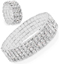 Crystal Stretch Tennis Bracelet and Ring - #6607