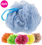 6-pack Mesh-Textured Bath Loofahs by Spa Savvy - #7090