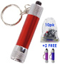 10-Pack of Misprint Keychain LED Flashlights - #7144A