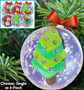 Fun-Doh Christmas Ornaments Craft Kit - Choose Single or 6-Pack - #7272