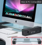 Glass Multimedia Monitor Stand with Speakers by ModernHome